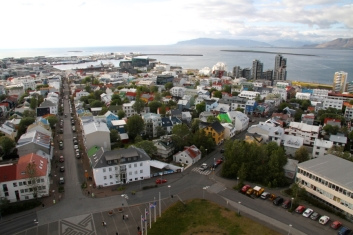 The incredible view from Hallgrímskirkja