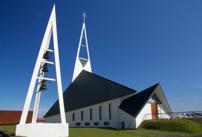 The modern church Olafsvik