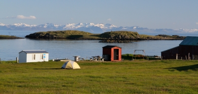 Our campsite on Flatey Island