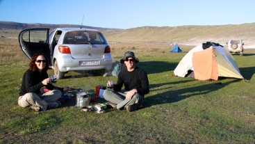 The free campsite near Latrabjarg