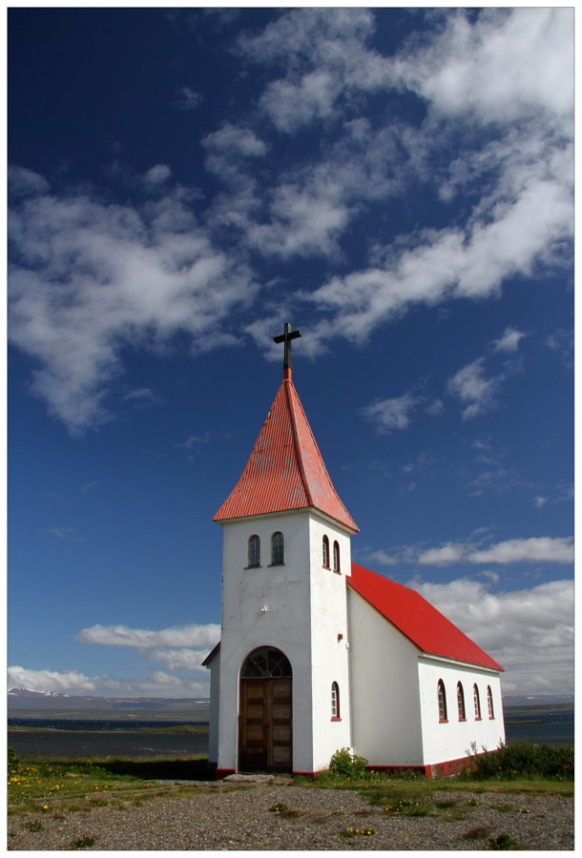 Lone Church on the Vatsnes Peninsula