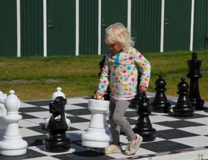 Sigulfjördur resident playing chess