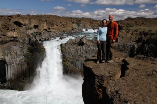 Matt and Alison at Aldeyjarfoss