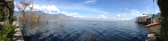 San Pedro sits on the shores of Lago de Atitlan.