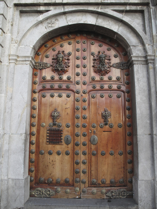 While this grand doorway reminded us of its colonial past.