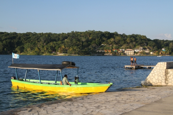 Located an hour from Tikal, the island town of Flores is a pleasant place to stay when visiting Tikal.