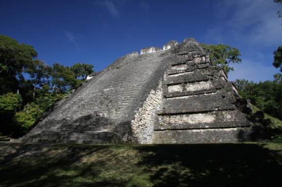 El Mundo Perdido is one of temples whose steps you can still climb...if you dare!