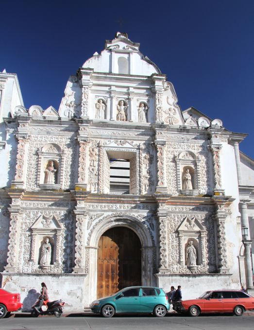 Xela's beautiful cathedral presides over its central square.