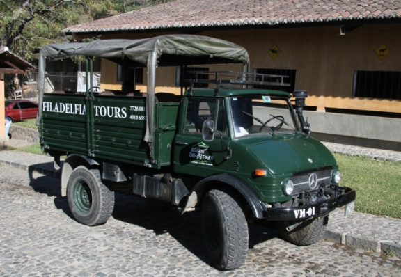 Open-air trucks add to the safari-like feel of the tour.