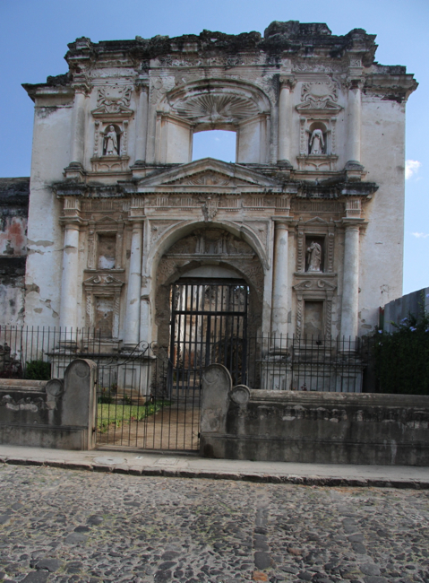 Churches in various states of decay are everywhere in Antigua.