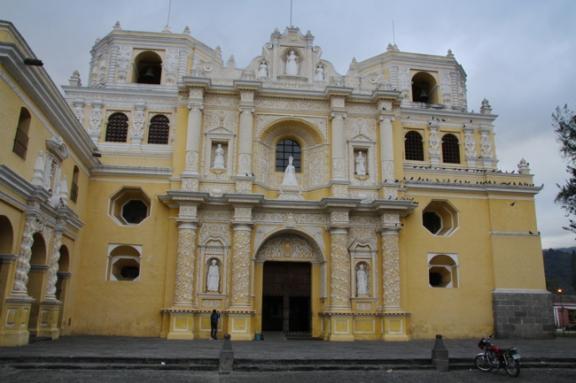 Colorful churches add to Antigua's charm.
