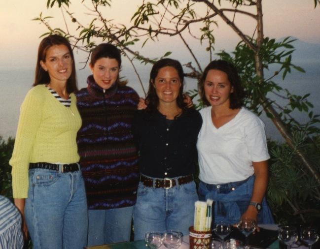 Alison & Leah (far right) in Capri circa 1996