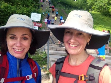 Training hikes at Swallow Cliff Stairs in Palos Hills