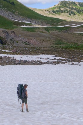 Traversing the Snow Fields of Panhandle Gap
