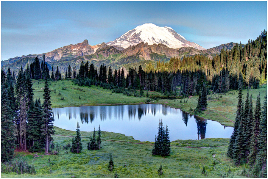 Upper Tipsoo Lake and Mount Rainier