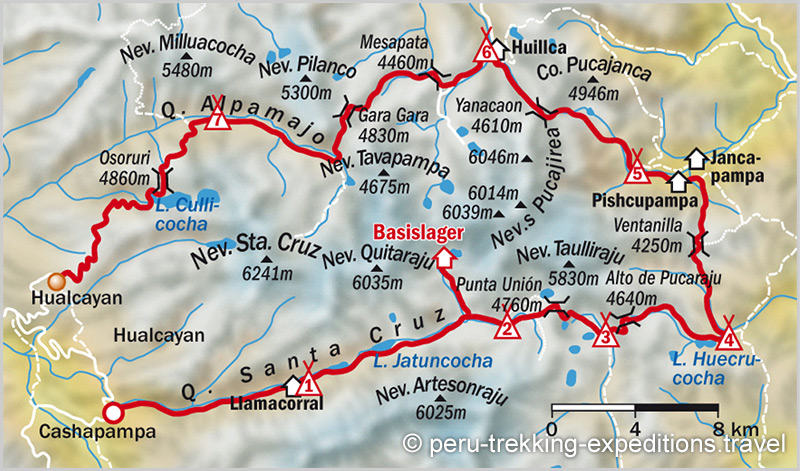 map-trekking-cedros-alpamayo-santa-cruz-trail